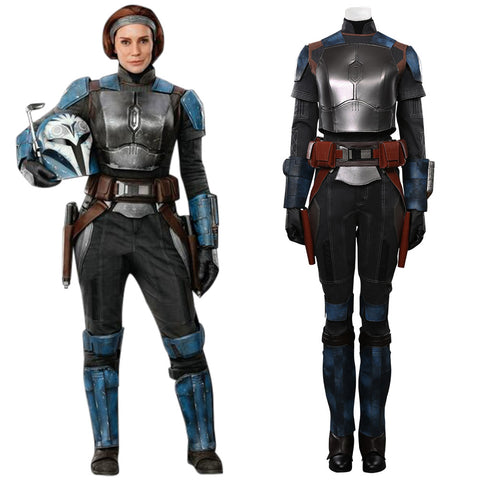 The Mandalorian S2 Bo-Katan Kryze Cosplay Costume Top Vest Pants Outfits Halloween Carnival Suit