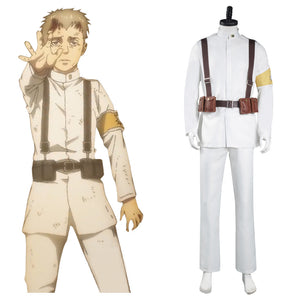 Shingeki no Kyojin Attack on Titan S4 Cosplay Costume Marley Eldian Army White Uniform Outfits Halloween Carnival Suit