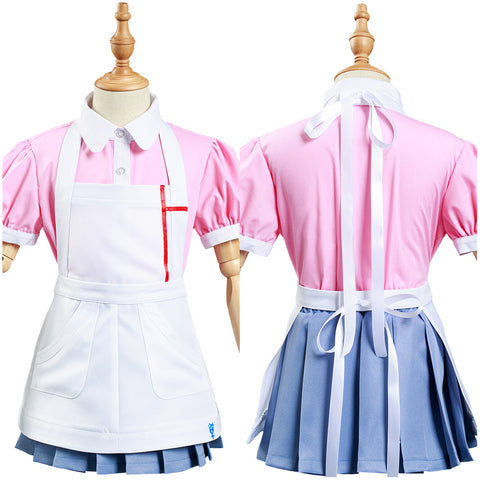 Danganronpa 2:Goodbye Despair Mikan Tsumiki Cosplay Costume Kids Children Shirt Skirt Outfits Halloween Carnival Suit