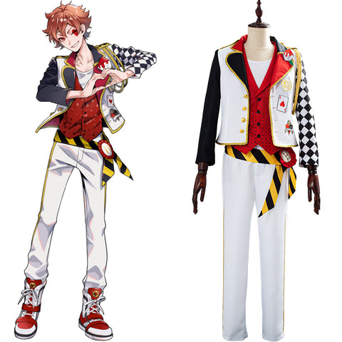 Game Twisted-Wonderland Alice in Wonderland Cosplay Costume Theme Ace Halloween Uniform Outfits