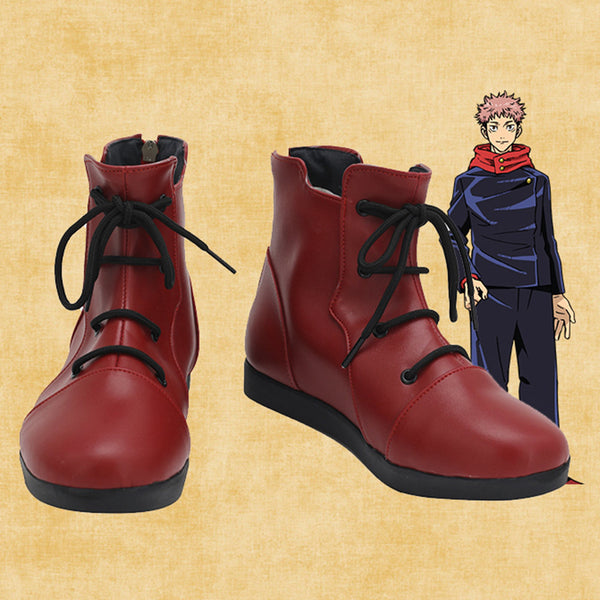 Anime Jujutsu Kaisen Yuji Itadori Cosplay Shoes Boots Halloween Costumes Accessory