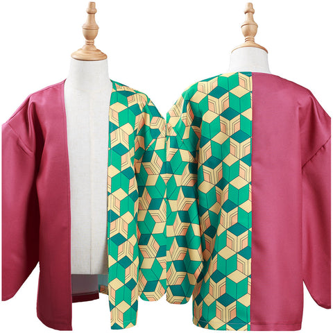 Demon Slayer: Kimetsu no Yaiba Tomioka Giyuu Cosplay Costume Kids Children Kimono Coat