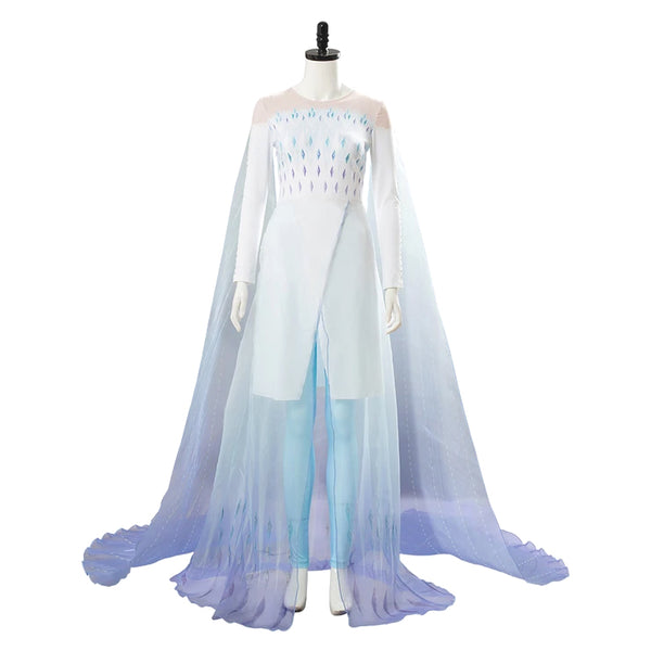 Elsa Queen Gown Frozen 2 Ahtohallan Ice Cave Cosplay Costume