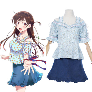 Rent A Girlfriend Ichinose Chizuru/Mizuhara Chizuru Cosplay Costume Women Dress Outfits Halloween Carnival Suit