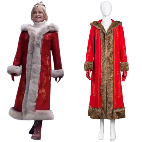 The Christmas Chronicles 2 Mrs. Claus Cosplay Costume Women Coat Halloween Carnival Suit