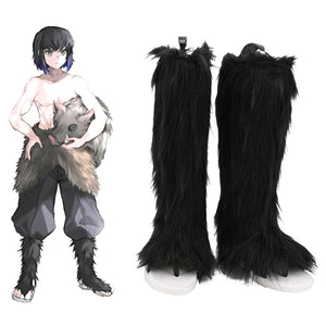 Demon Slayer Hashibira Inosuke Cosplay Shoes Boots Halloween Costumes Accessory