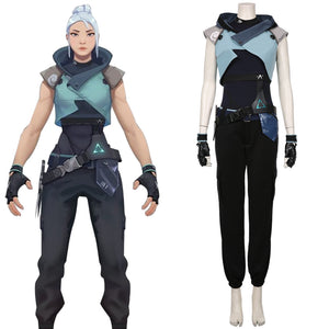 Game Valorant Jett Halloween Jumpsuit Outfit Cosplay Costume