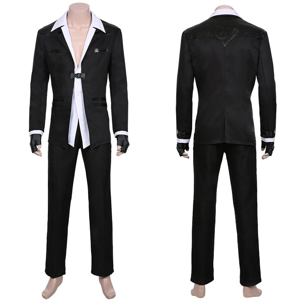 Final Fantasy VII Remake-Reno Men Jacket Pants Outfit Cosplay Costume Halloween Carnival Costume