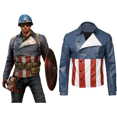 Marvel's Avengers Game-Captain America Cosplay Jacket Coat Costume