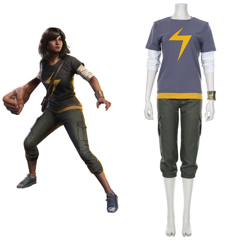 Avengers-Ms. Marvel Kamala Khan Cosplay Costume Outfits Halloween Carnival Suit