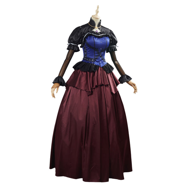 Game Final Fantasy VII Remake Cloud Strife Women Dress Outfit Cosplay Costume