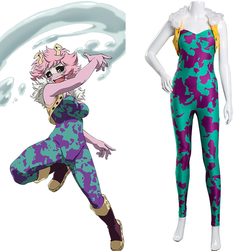 Boku no My Hero Academia Ashido Mina Cosplay Costume Jumpsuit Outfits Halloween Carnival Suit