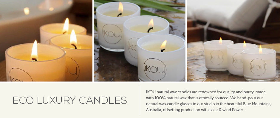 iKOU - Eco Luxury Natural Wax Candles - Available at oscura.com.au
