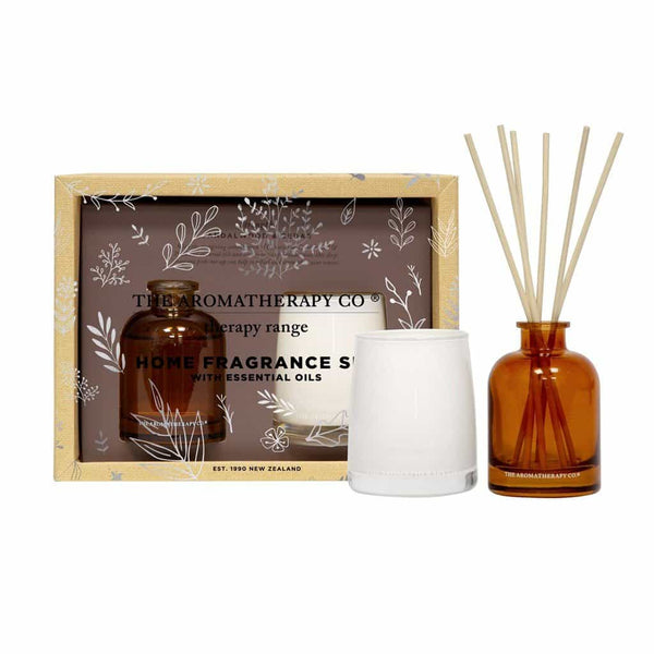 Therapy Range Home Fragrance Set | Sandalwood & Cedar