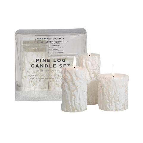 The Aromatherapy Co. Pine Log Candle Set