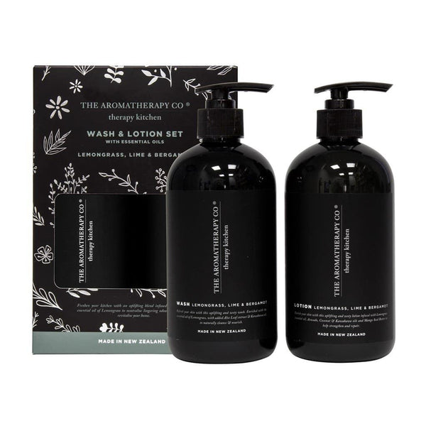 Therapy Kitchen Wash & Lotion Set | Lemongrass, Lime & Bergamot