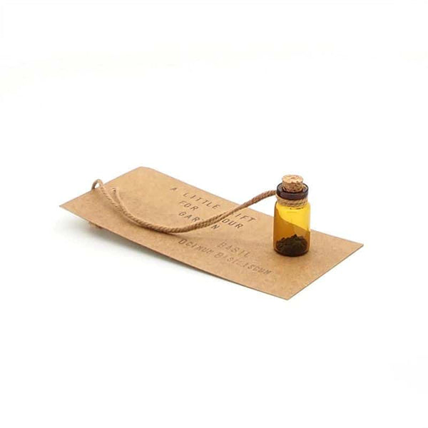 Accessories - Seed Bottle Gift Tag - Basil