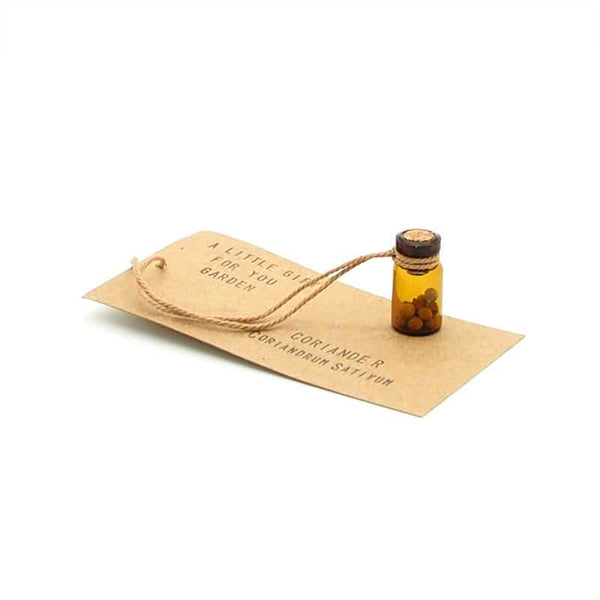 Accessories - Seed Bottle Gift Tag - Coriander