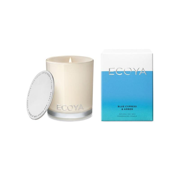 ECOYA - Mini Madison Candle 80g - Blue Cypress & Amber