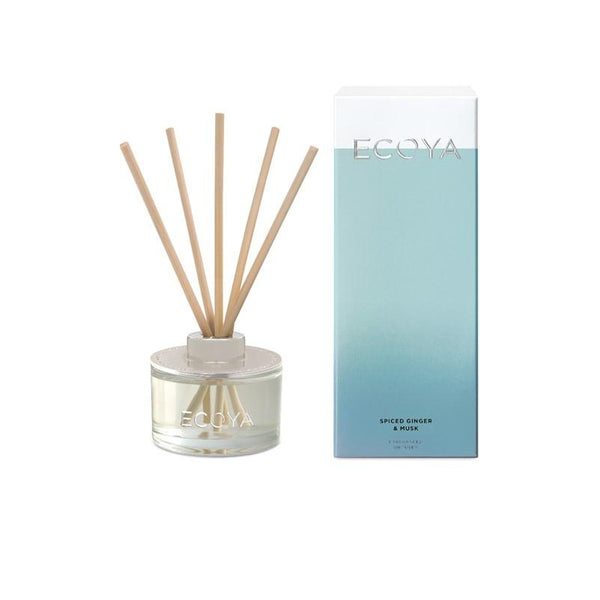 ECOYA - Mini Reed Diffuser 50ml - Spiced Ginger & Musk - Oscura - Bath, Body & Home Fragrance