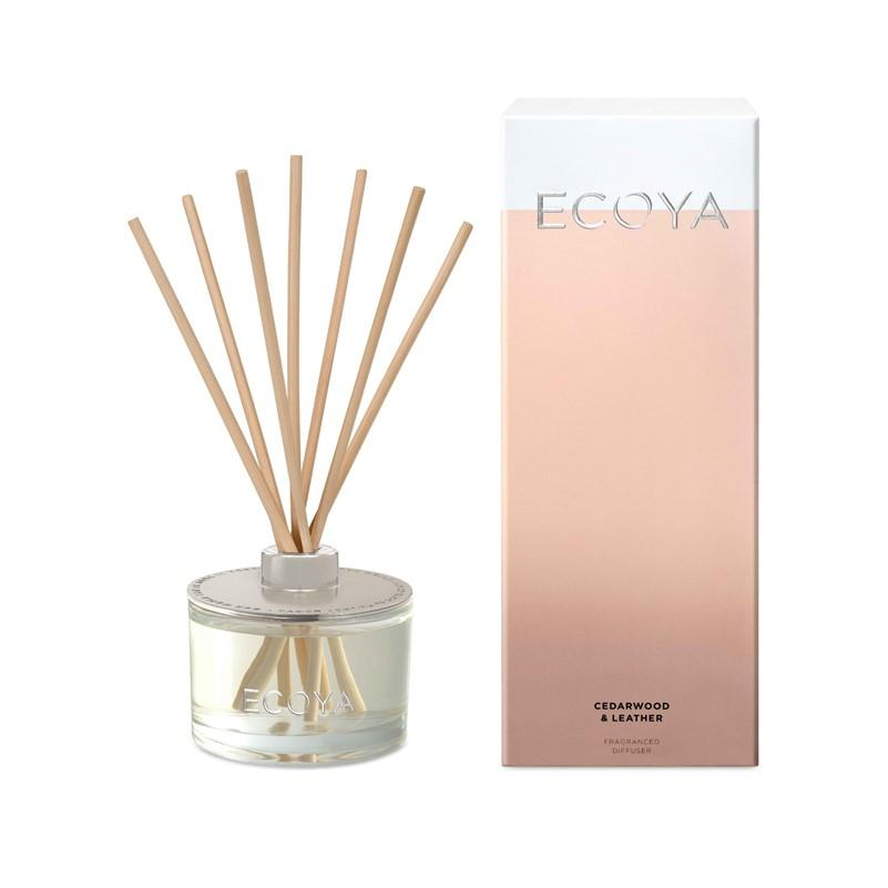 ECOYA - Reed Diffuser 200ml - Cedarwood & Leather - Oscura - Bath, Body & Home Fragrance