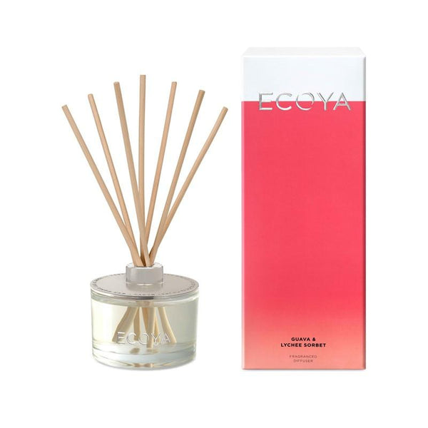 ECOYA - Reed Diffuser 200ml - Guava & Lychee Sorbet - Oscura - Bath, Body & Home Fragrance