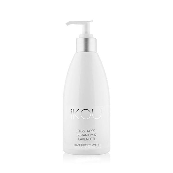 iKOU - De-Stress - Hand & Body Wash 500ml - Geranium & Lavender - Oscura - Bath, Body & Home Fragrance