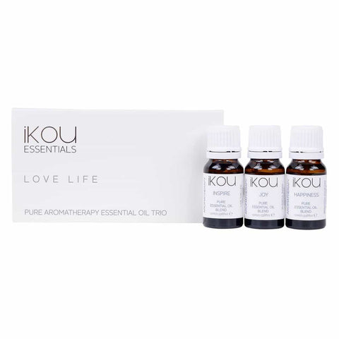 iKOU - Essentials - Essential Oil Trio 3x10ml - Love Life - Oscura - Bath, Body & Home Fragrance