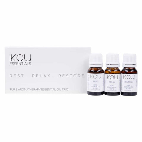 iKOU - Essentials - Essential Oil Trio 3x10ml - Rest, Relax, Restore