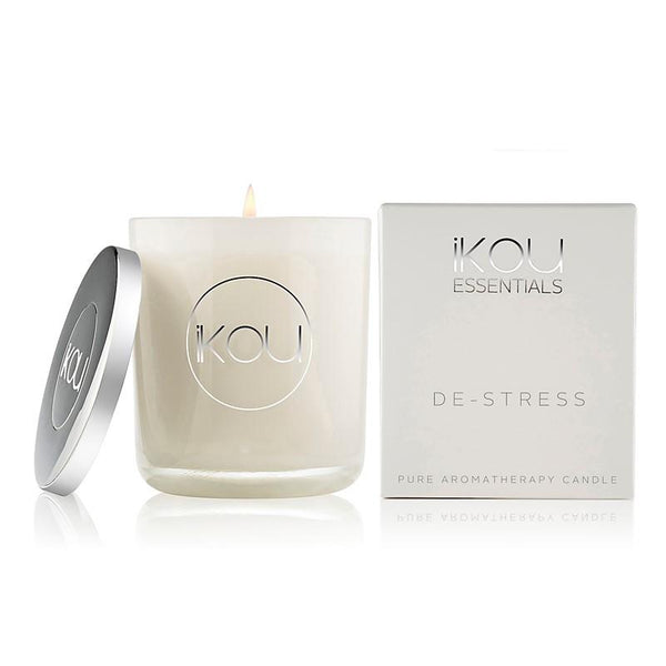 iKOU - Essentials - Pure Aromatherapy Large Glass Candle - De-Stress