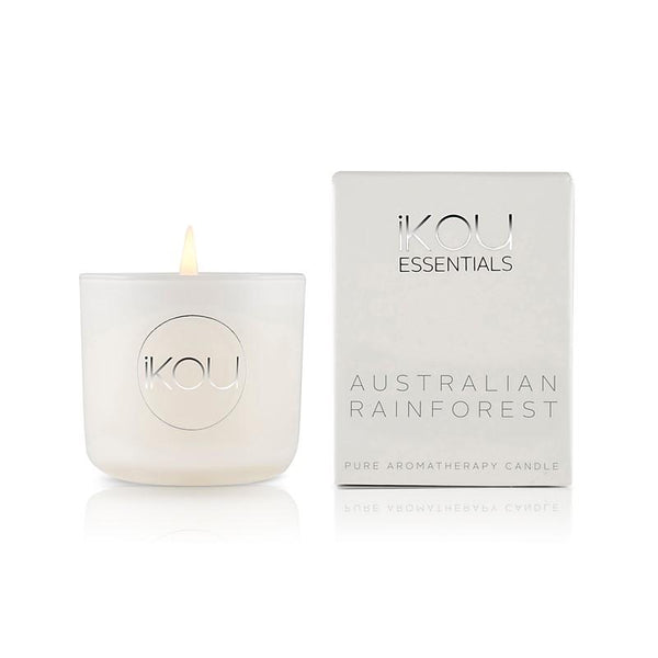 iKOU - Essentials - Pure Aromatherapy Small Glass Candle - Australian Rainforest