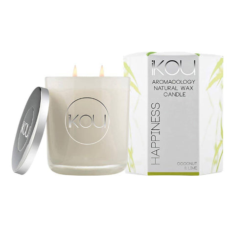 iKOU - Happiness - Aromacology Natural Wax Candle - Coconut & Lime