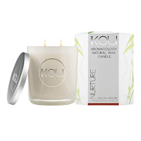 iKOU - Nurture - Aromacology Natural Wax Candle - Italian Orange, Cardamom & Vanilla