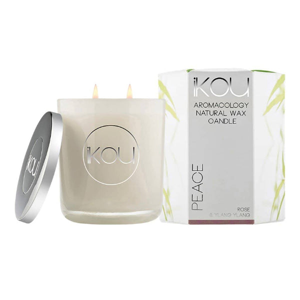 iKOU - Peace - Aromacology Natural Wax Candle - Rose & Ylang Ylang