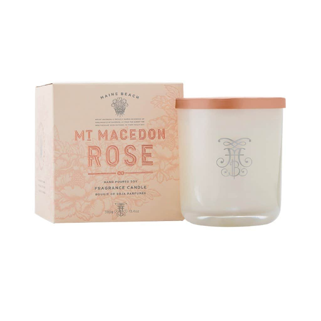 Maine Beach - Mt Macedon Rose - Candle 380g - Rose