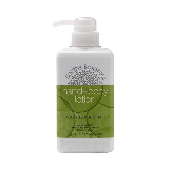 Matakana Botanicals - Earths Botanics - Hand & Body Lotion 425ml - Cucumber & Mint