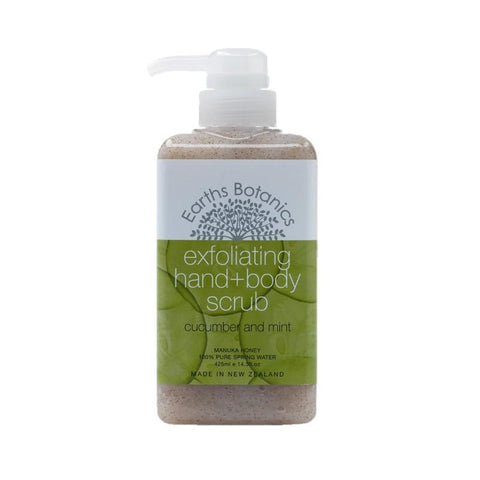 Matakana Botanicals - Earths Botanics - Hand & Body Scrub 425ml - Cucumber & Mint