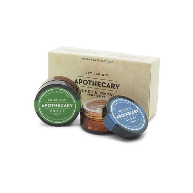 Matakana Botanicals - Sniff Box - Jet Lag Kit Box 2x2g - Sleep & Focus