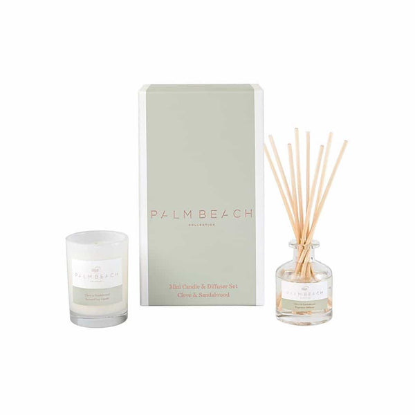 Palm Beach Collection - Mini Candle & Diffuser Set - Clove & Sandalwood