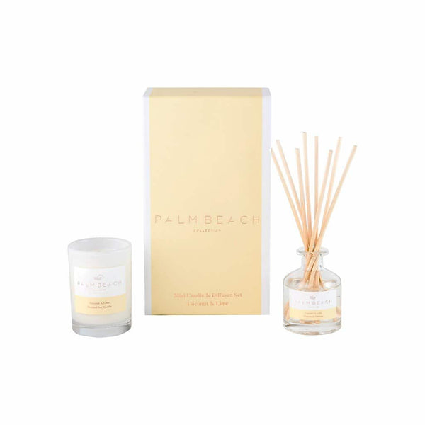 Palm Beach Collection - Mini Candle & Diffuser Set - Coconut & Lime