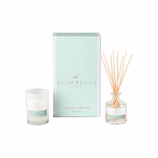 Palm Beach Collection - Mini Candle & Diffuser Set - Sea Salt