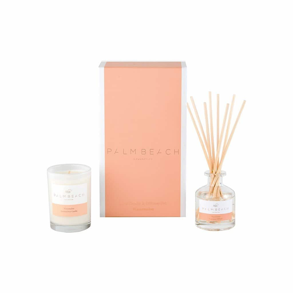 Palm Beach Collection - Mini Candle & Diffuser Set - Watermelon