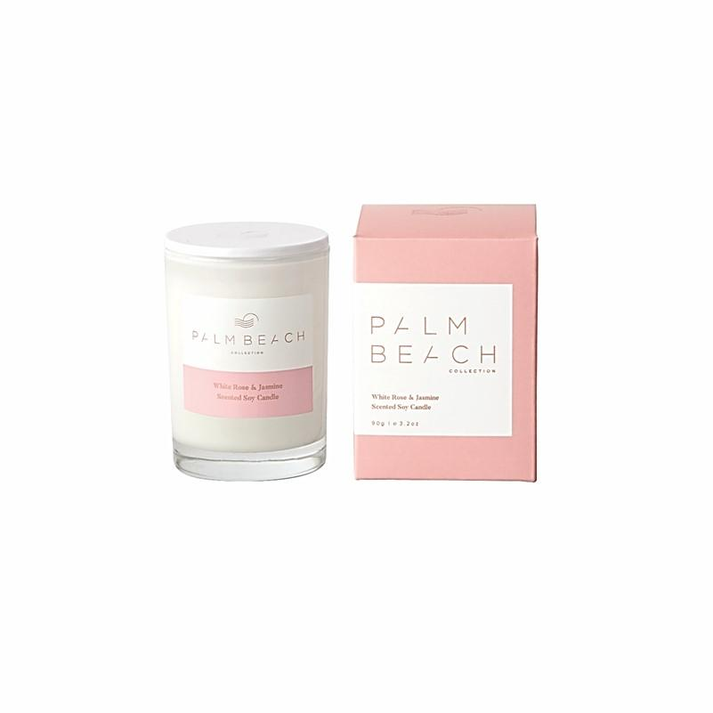 Palm Beach Collection - Mini Scented Soy Candle 90g - White Rose & Jasmine