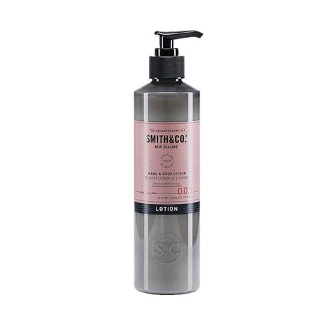 Smith & Co. - Hand & Body Lotion 400ml - Elderflower & Lychee