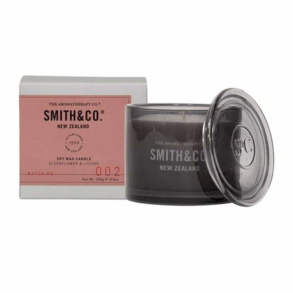 Smith & Co. - Soy Wax Candle 250g - Elderflower & Lychee