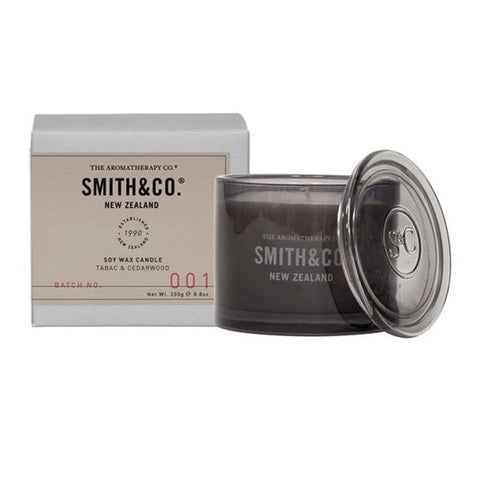 Smith & Co. - Soy Wax Candle 250g - Tabac & Cedarwood