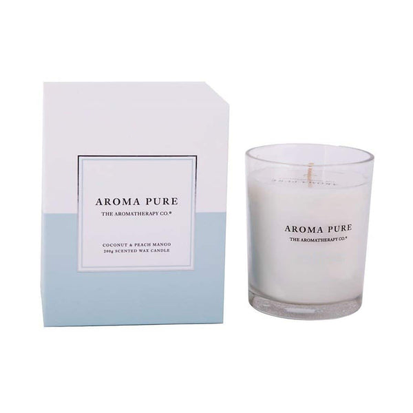 The Aromatherapy Co. - Aroma Pure - Candle 200g - Coconut & Peach Mango
