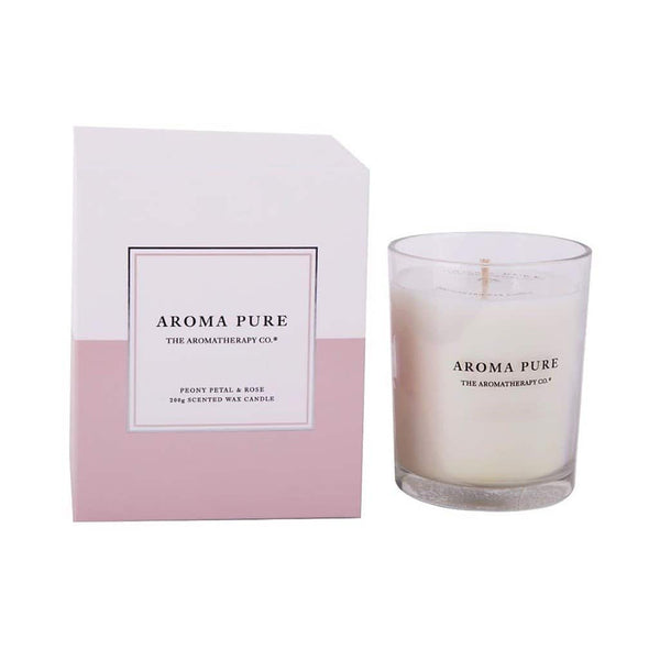 The Aromatherapy Co. - Aroma Pure - Candle 200g - Peony Petal & Rose