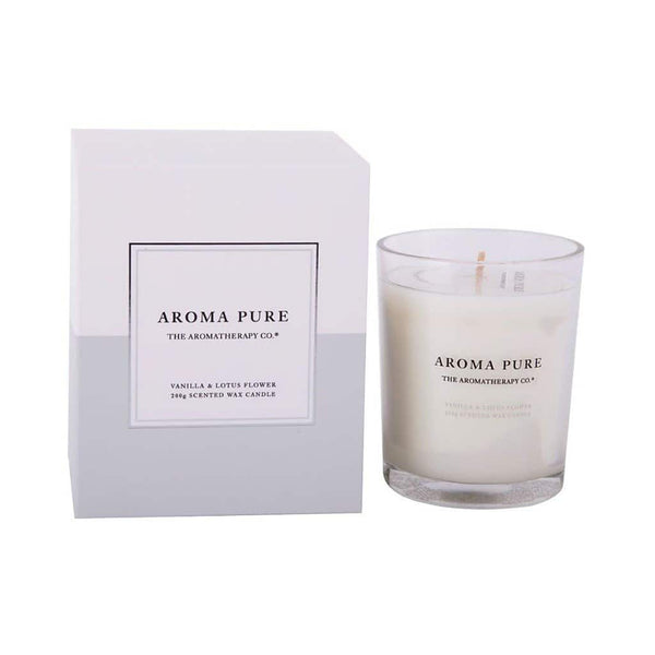 The Aromatherapy Co. - Aroma Pure - Candle 200g - Vanilla & Lotus Flower