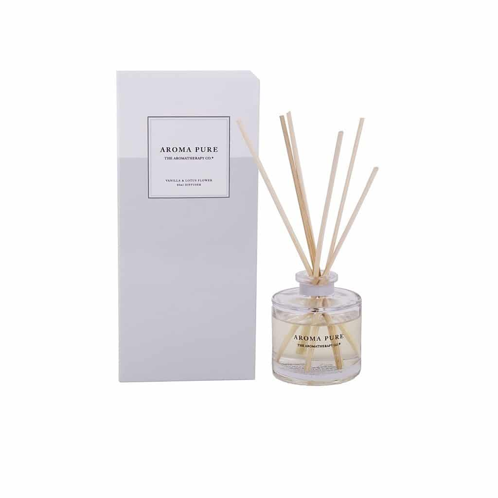 The Aromatherapy Co. - Aroma Pure - Mini Diffuser 40ml- Vanilla & Lotus Flower